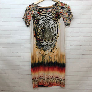 Bisou Bisou Tiger Print Dress